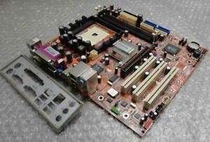 Original-Authentique-Winfast-760M02-GX-6LS-Pcie-DDR-2-Carte-Mere-amp-I-O-Plaque