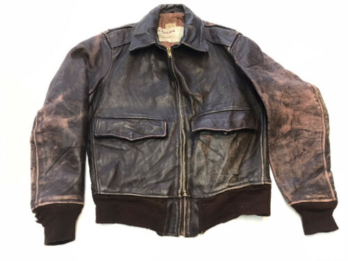 Vintage 1940's Horsehide Leather Jacket Small