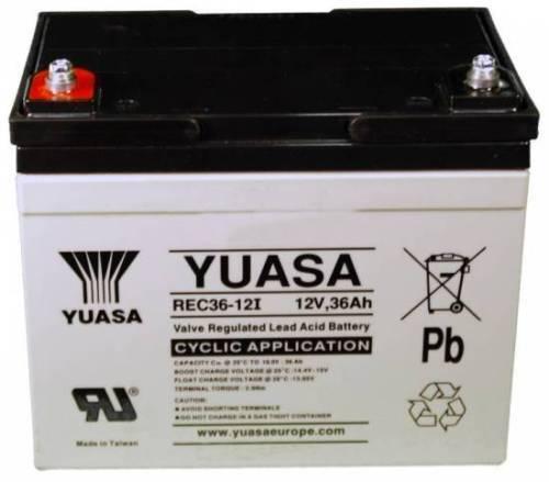 Platino BLSL3060 Slide 12V 36Ah Reemplazo Alarma Yuasa de Batería