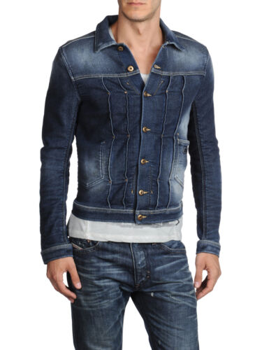 DIESEL JUZICON 0802U BLUE JOGG DENIM JACKET SIZE L 100/% AUTHENTIC