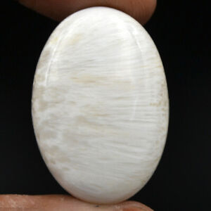 Cts-33-75-Natural-Chatoyant-High-Grade-Scolecite-Cabochon-Oval-Loose-Gemstone