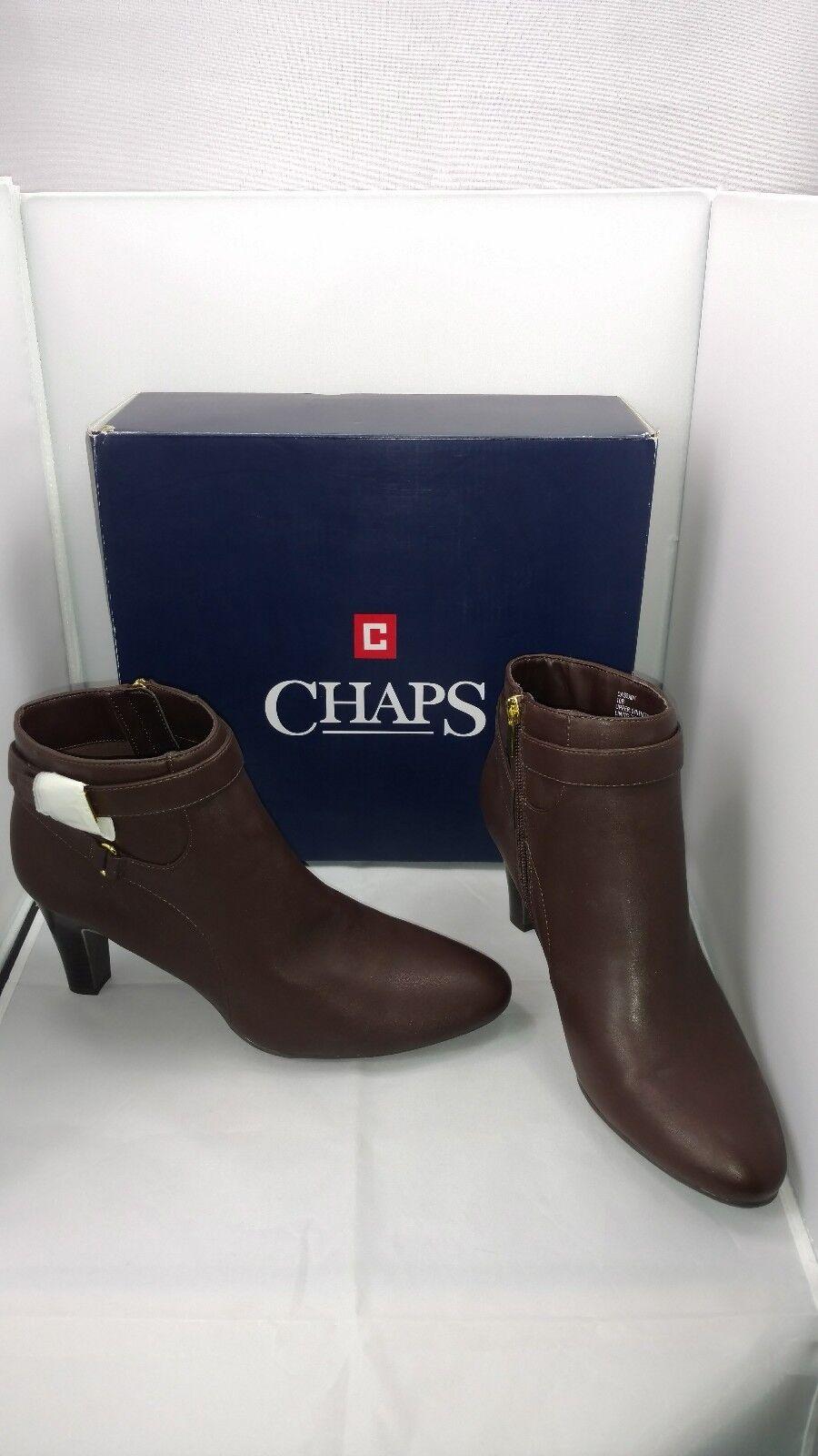 Nueva con caja Chaps les marrón marrón marrón botas al Tobillo Cremallera  Sintético para Mujer Zapatos 568a7144bf03