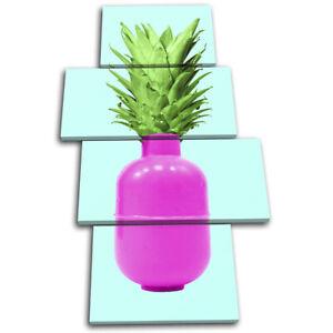 Pineapple-Bomb-Pop-Art-Food-Kitchen-MULTI-CANVAS-WALL-ART-Picture-Print