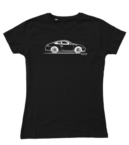 Motorholics FEMME CROQUIS ORIGINAL PORSCHE 911 996 Ajusté T-Shirt S 2XL