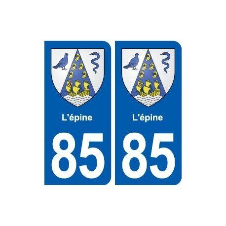 85 L'épine blason autocollant plaque stickers ville droits