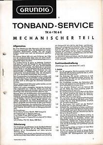 Willensstark Service Manual-anleitung Für Grundig Tk 6 Tv, Video & Audio