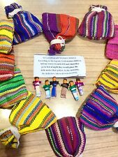 Worry Dolls Wholesale of 100 Guatemalan Handmade Bags Fair Trade Trouble Dolls