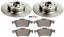 FOR RENAULT LAGUNA MK2 REAR BRAKE DISCS /& PADS FITTED WHEEL BEARINGS /& ABS RINGS