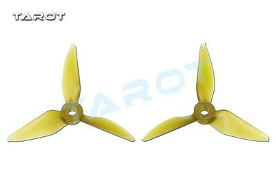 Tarot 5051 5 inch Tri-Blade Yellow Propellers CW//CCW RaceKraft Style TL5E1-A