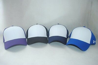 New Under Armour Men/'s UA Color Blocked Stretch Fit Cap #1282119 Baseball Hat