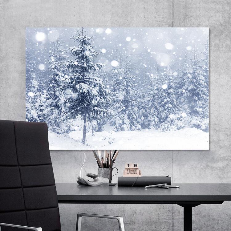 3D Romantischer Schnee Kiefer 7 Fototapeten Wandbild BildTapete AJSTORE DE Lemon