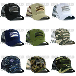 6c526fc8c Details about USA American Flag hat Tactical Operator Military Flag Mesh  Snapback Baseball cap