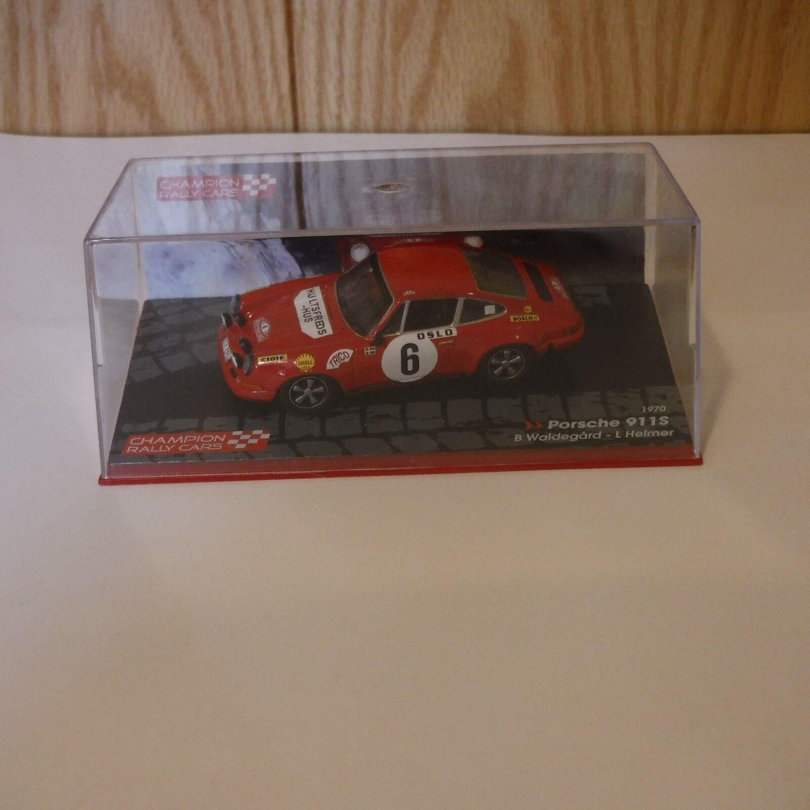 1970 Porsche 911 S  1 43 Scale Die cast Champion Rally Car