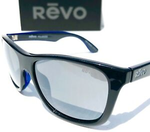 2a9523cf7e NEW  REVO OTIS BLACK Blue frame w POLARIZED Gray Lens Sunglass 1001 ...
