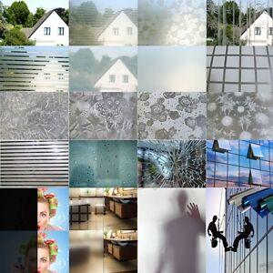 9m² Milchglasfolie Fenster Design Folie Sichtschutz Selbstklebend
