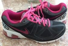 Nike Max Run Lite 4 Women's Black Pink Gray Running Shoes Sz 7.5 #554894-002 EUC