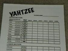 Laminated Yahtzee Lawn Dice Game reusable scorecard w Dry Erase Marker