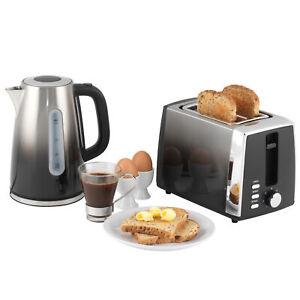 Progress® Ombre Black Kettle & 2-Slice Toaster Kitchen Breakfast Set COMBO-5631