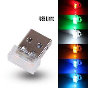 Mini USB LED Car Interior Light Neon Atmosphere Ambient Lamp Decorative Light C