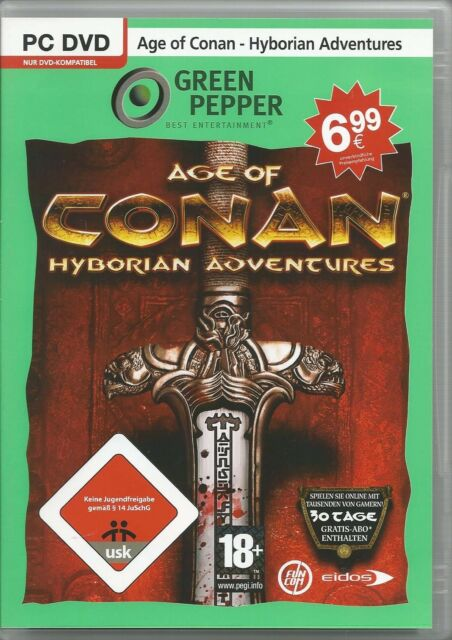 Age Of Conan: Hyborian Adventures (dt.) Green Pepper (PC, 2009, DVD-Box)