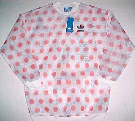 8841036b220e0 adidas BRAND 3 Stripes Osaka Sweatshirt White Orange Circles Grone 2016 S
