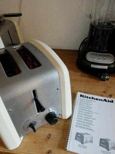 KitchenAid Artisan, 2-Scheiben Retro Toaster 5KTT780 EAC beige / cremé Top Zust.  5sPQq