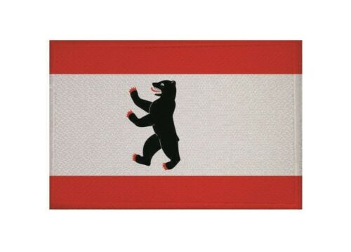Aufnäher Berlin Fahne Flagge Aufbügler Patch 9 x 6 cm