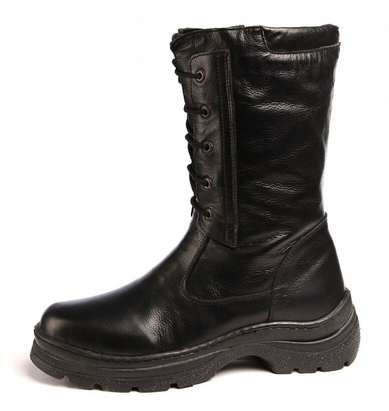 Russian soviet winter boots HUNTSMAN genuine leather genuine fur very warm