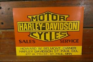Harley Davidson Motorcycles Sales And Service Sign Howard Belmont St Paul Mn Ebay