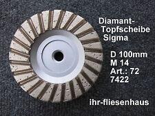 Sigma Profi Diamant Turbo Topfscheibe Schleifteller Schleifscheibe für M14 100mm