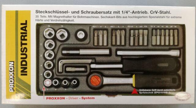 Proxxon 23070 Steckschlüssel- und Schraubersatz 1/4'' - Stahlkasten - Neu - OVP