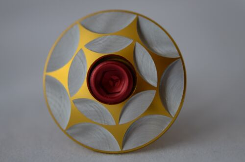 XON Full CNC TOP CAP 31.8mm Gold U.Z BIKE Screw Bolt M6 x 30mm,Red