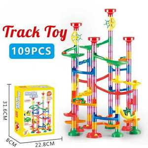 109Pcs Marble Run Construction Gaming Building Blocks Race Maze Track Gift Kids