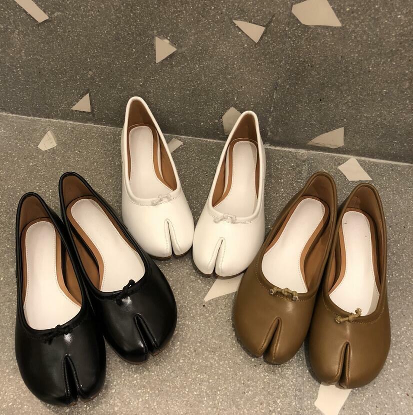 Women Flat Korean Style Slip On shoes Vogue Leather Split Toe Creeper Hot Jd_uk