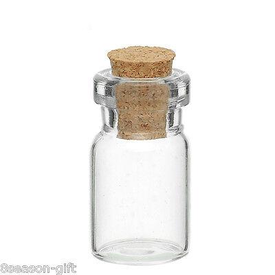 10PCs Tie Plug Tiny Glass Bottle Jewelry Vial Potion 24mm x10mm