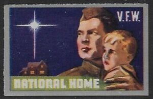 USA Cinderella stamp: 1940s Veteran of Foreign Wars, VFW National Home - dw2.5