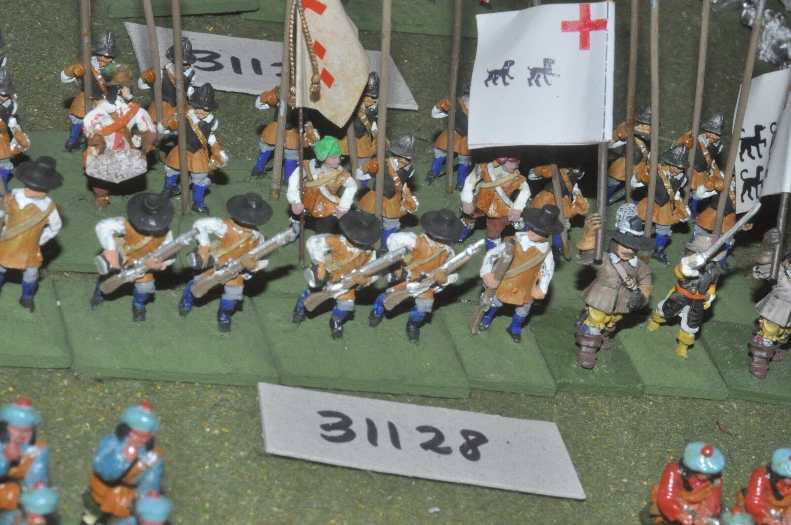 25mm ECW   royalists - pike & shot 30 figures - inf (31128)
