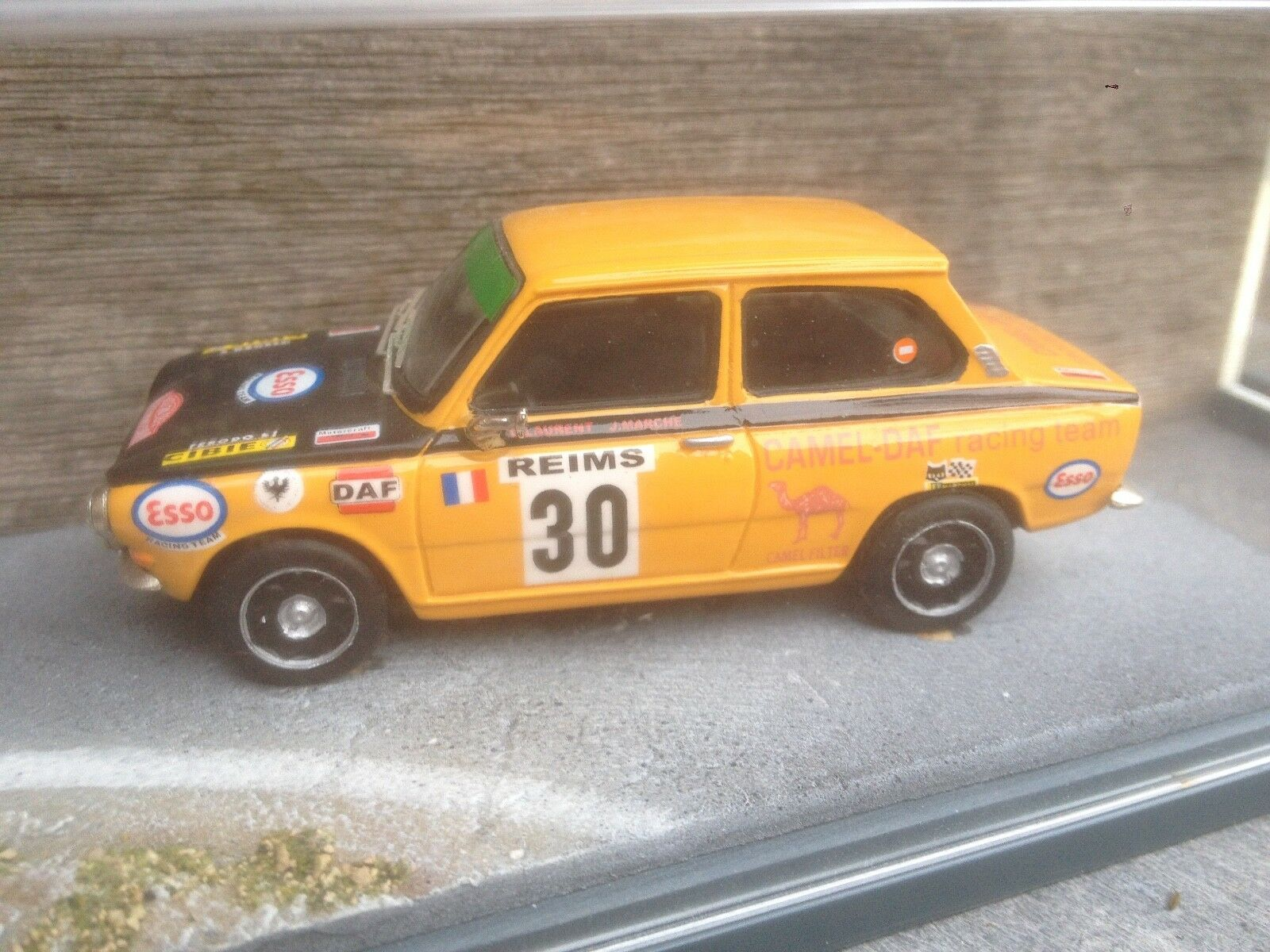 DAF 55 ARG RALLY MONTE-CARLO 1972 IN BBR BOX 1 43 BUILT KIT BERLINETTA MODELCARS