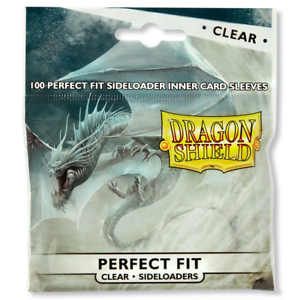 Dragon-Shield-Perfect-Fit-Standard-Size-Clear-Sideloader-100ct-Sleeves-Free-Ship