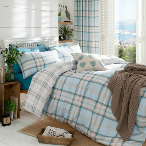 Catherine Lansfield Kelso Tartan Check Duvet//Bedding Quilt Covers Cotton Rich
