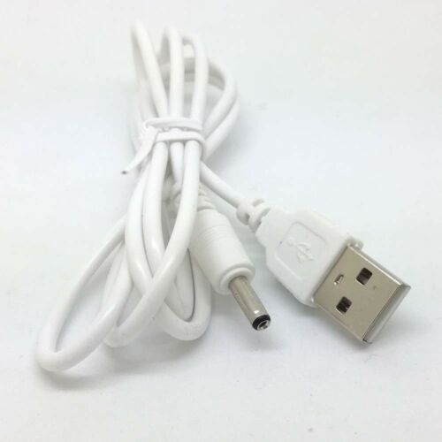 white PC USB Male to 5V DC 3.5mm x 1.35mm Barrel Connector Power Cable Cord/_gm