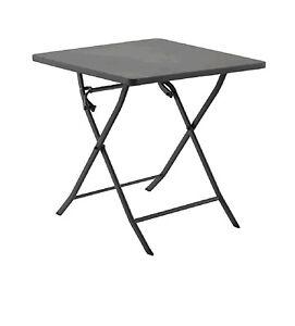Tavolo Per Esterno Pieghevole.Tavolo Per Esterno Pieghevole 70x70 Grigio Arredo Giardino Ebay