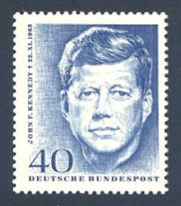Image Is Loading John F Kennedy Honored On 1964 German Stamp