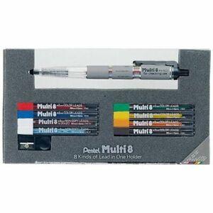 Pentel PH802ST Pencil Lead Holder and Lead Set - 8 Pack