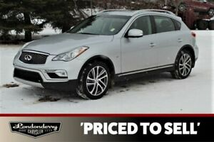 2017 Infiniti QX50 AWD PREMIUM Accident Free,  Navigation (GPS),  Leather,  Heated Seats,  Sunroof,  Back-up Cam,  Blue