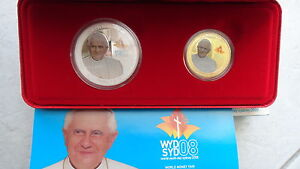 SYDNEY 2008 Papst BENEDIKT 2 x 1 DOLLAR AUSTRALIA POPE Benedict Bento - <span itemprop='availableAtOrFrom'>zu Hause, Deutschland</span> - SYDNEY 2008 Papst BENEDIKT 2 x 1 DOLLAR AUSTRALIA POPE Benedict Bento - zu Hause, Deutschland