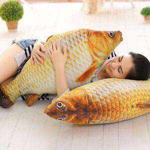 Novia-Juguetes-de-peluche-Pescado-relleno-Carpa-de-simulacion-Sofa-almohada