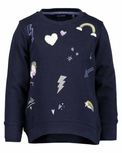 92 98 104 110 116 122 128 Neu Blue Seven Mädchen Sweatshirt Pullover Langarm Gr