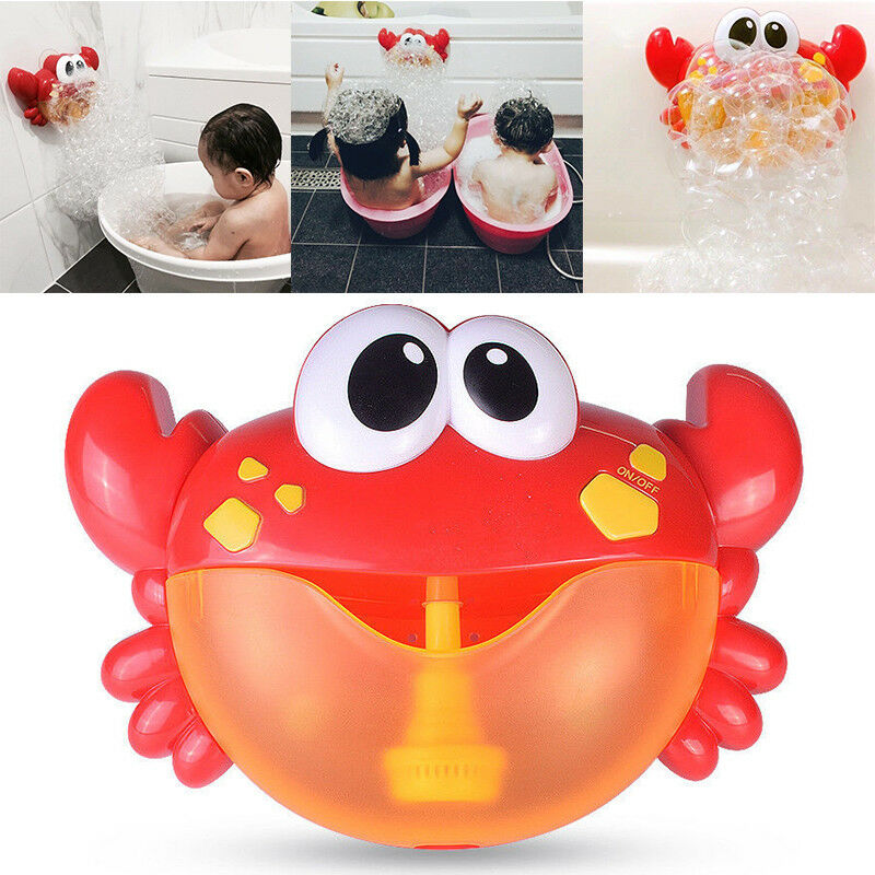 Crab Bubble Maker Automated Spout Bubble Machine Bath Shower Kids Fun Toy