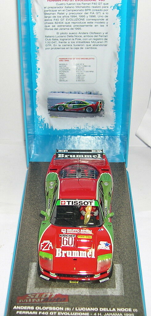 FLY 99104 FERRARI F40 GT ÉVOLUER 60 4H 4H 4H JARAMA'95 SUSC. MINIAUTO 2008 LIMITÉE 18e9df